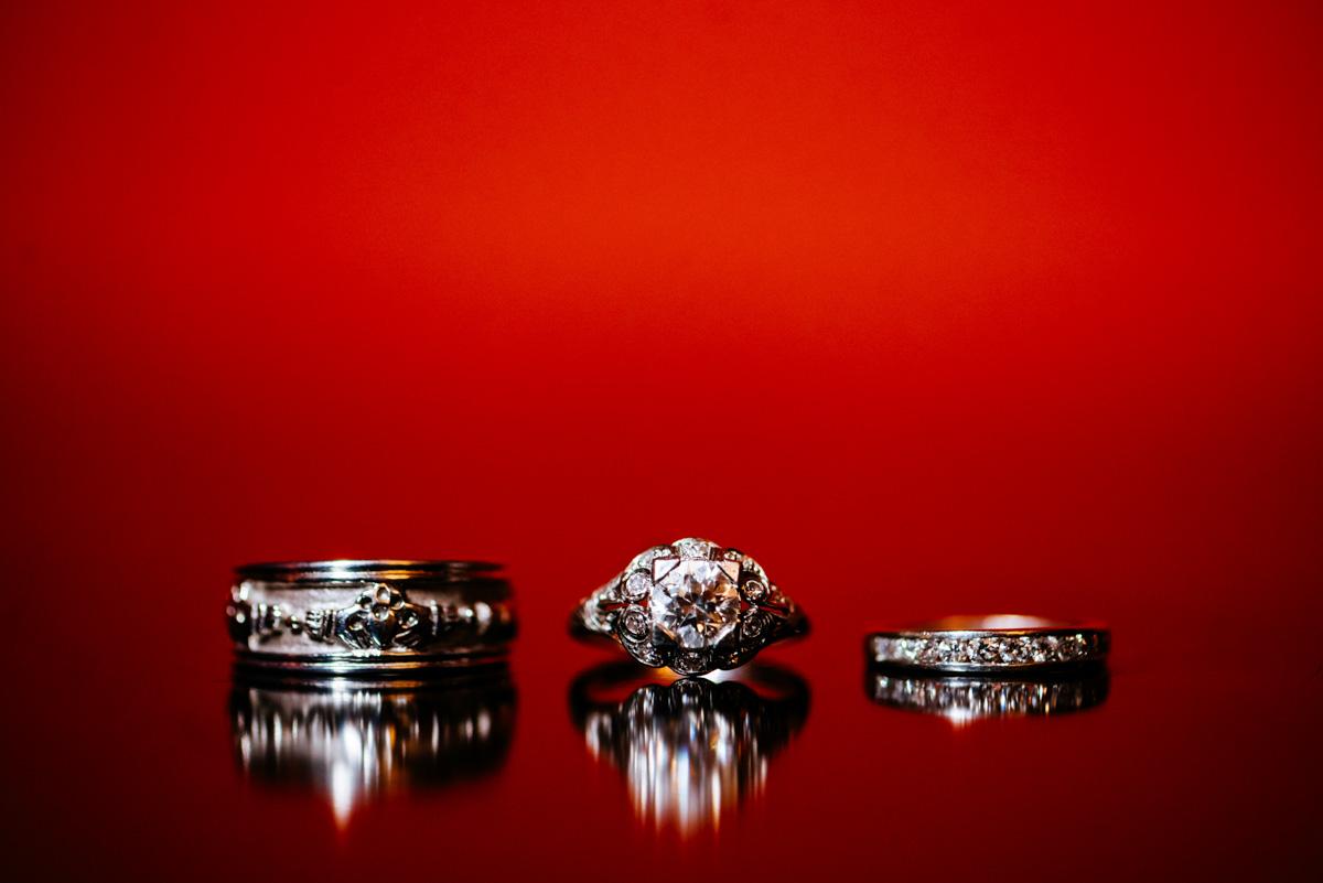 wedding rings claddaugh ring shot