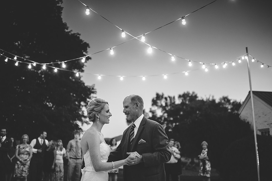 outdoor summer wedding reception father daughter dance by pittsburgh photographers the oberports