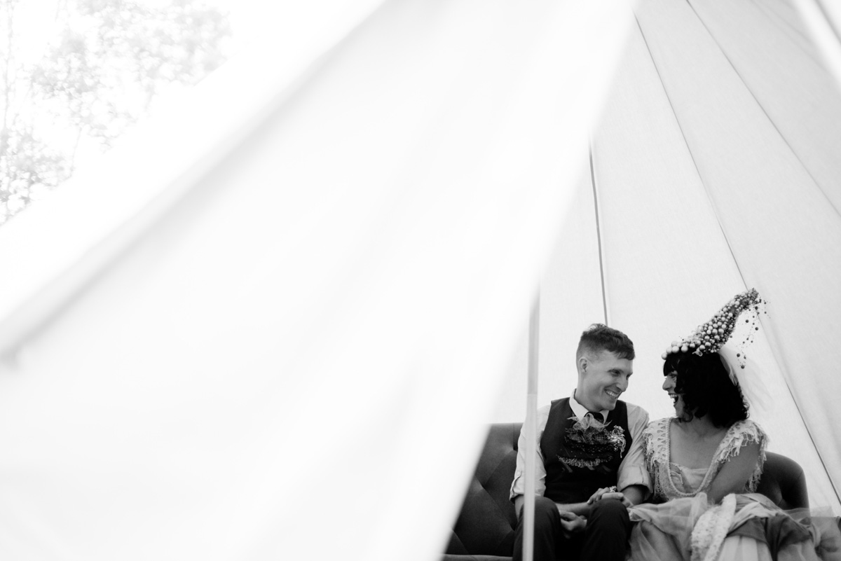 woodland punk rock wv wedding teepee portraits