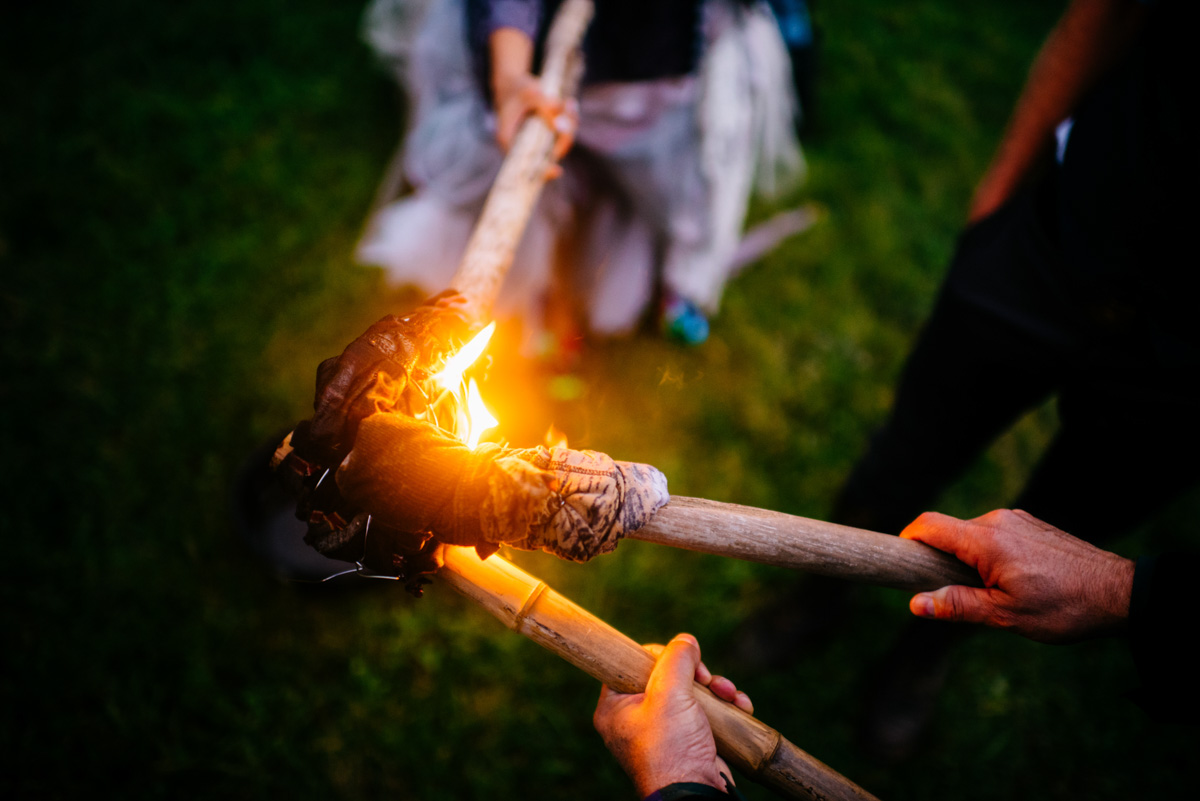 woodland punk rock wv wedding bonfire