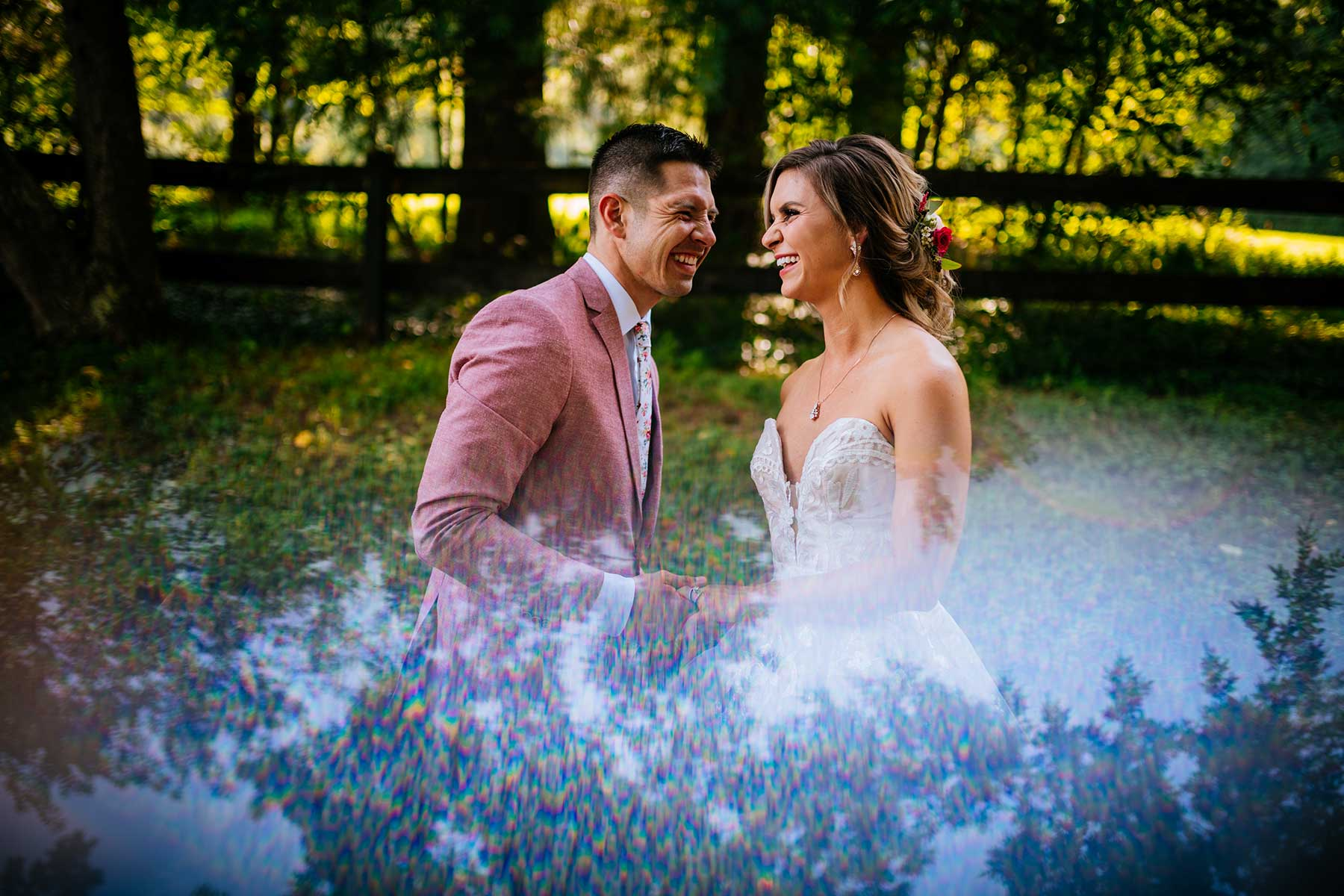 chanteclaire farm wedding first look