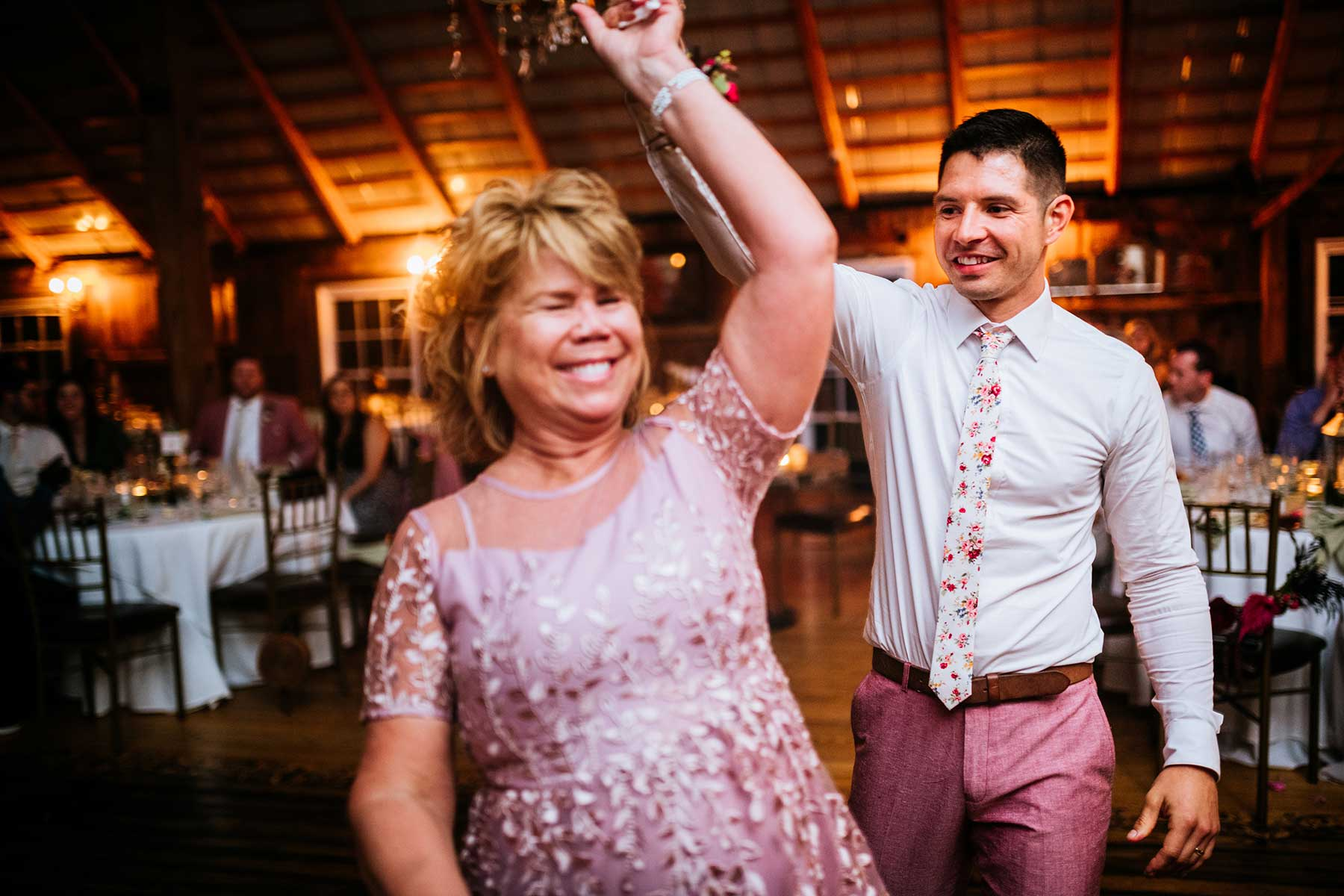 groom dancing with mom