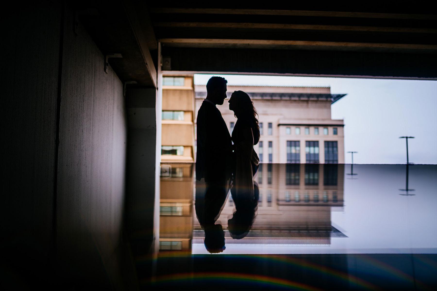 prism wedding portrait