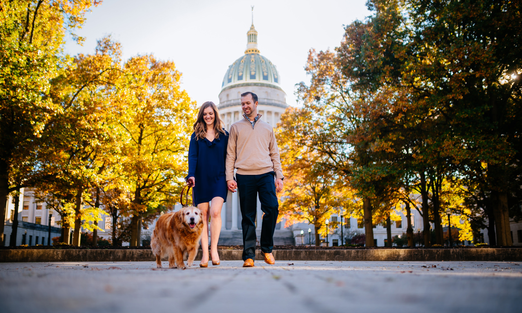 charleston wv fall engagement pictures