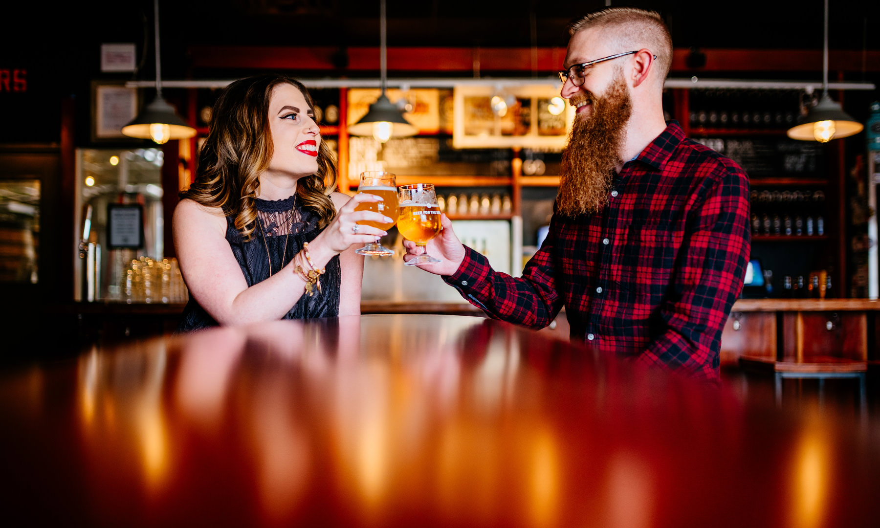 dc brewery engagement photos