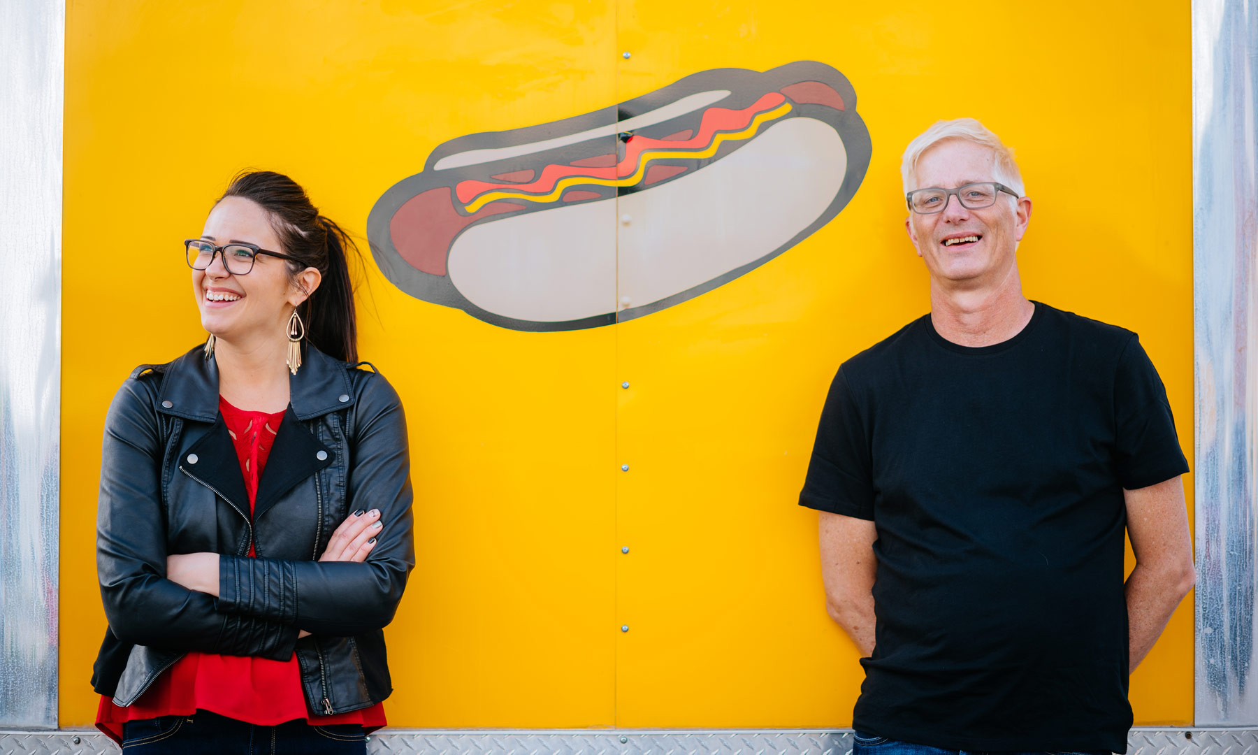 engagement photos with food truck in charleston wv