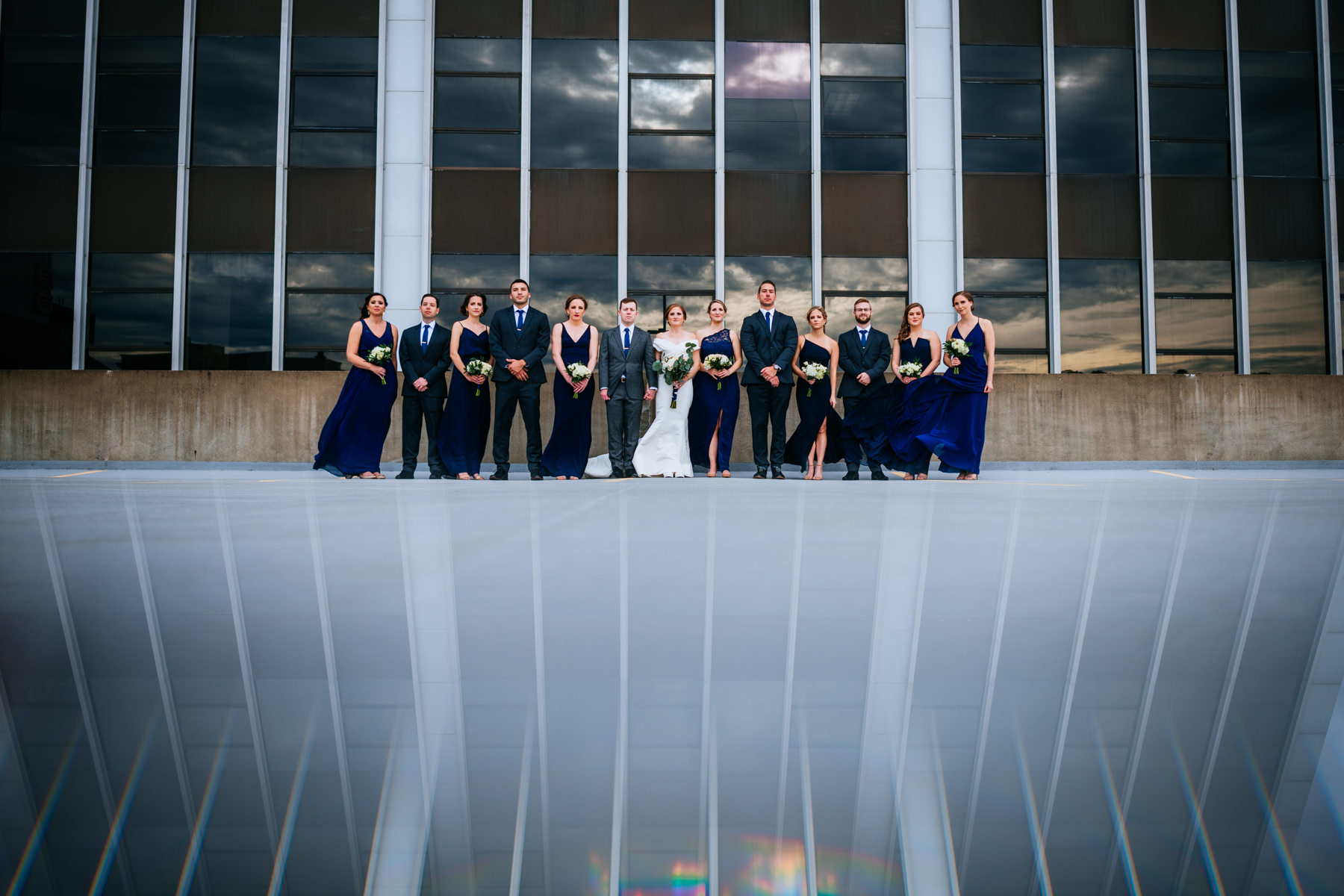 creative wedding party photograpy