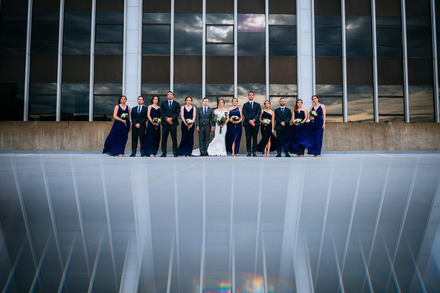 creative wedding party photograpy