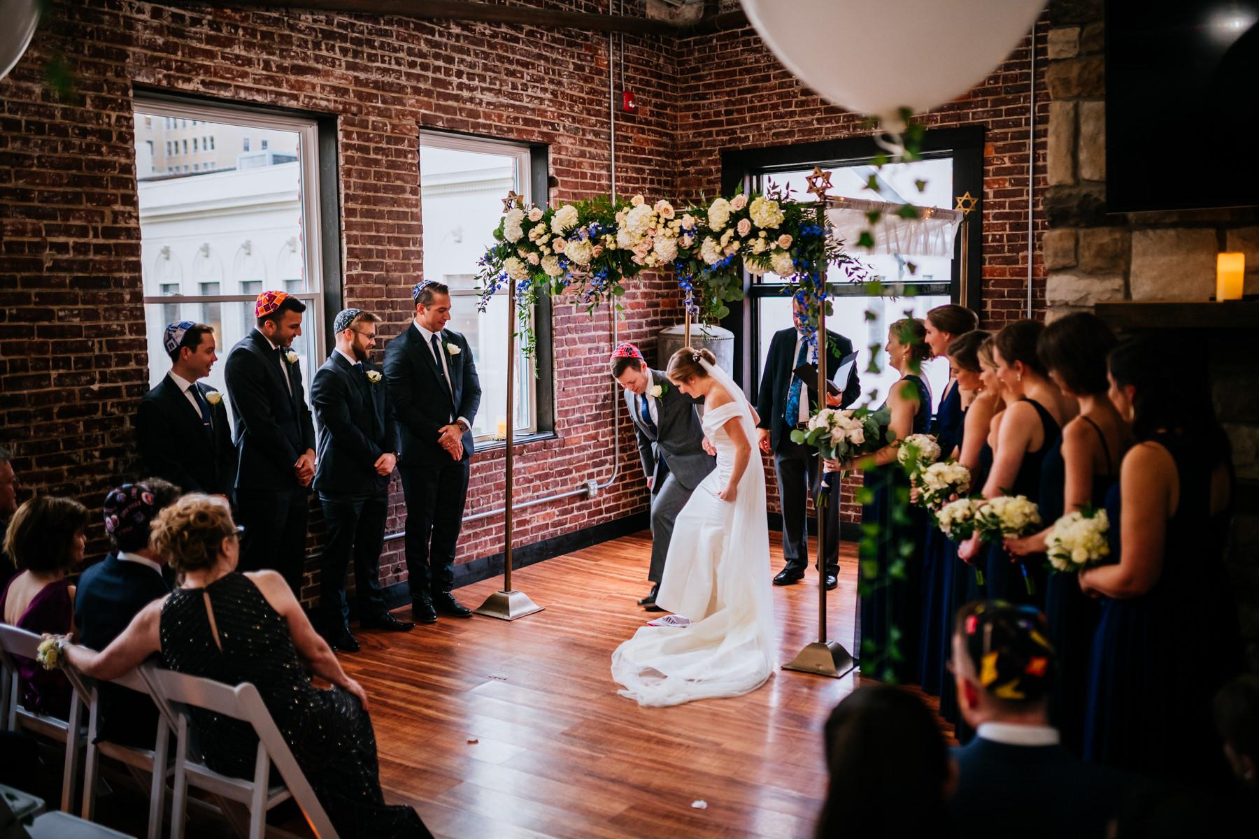 hale street center wedding glass breaking