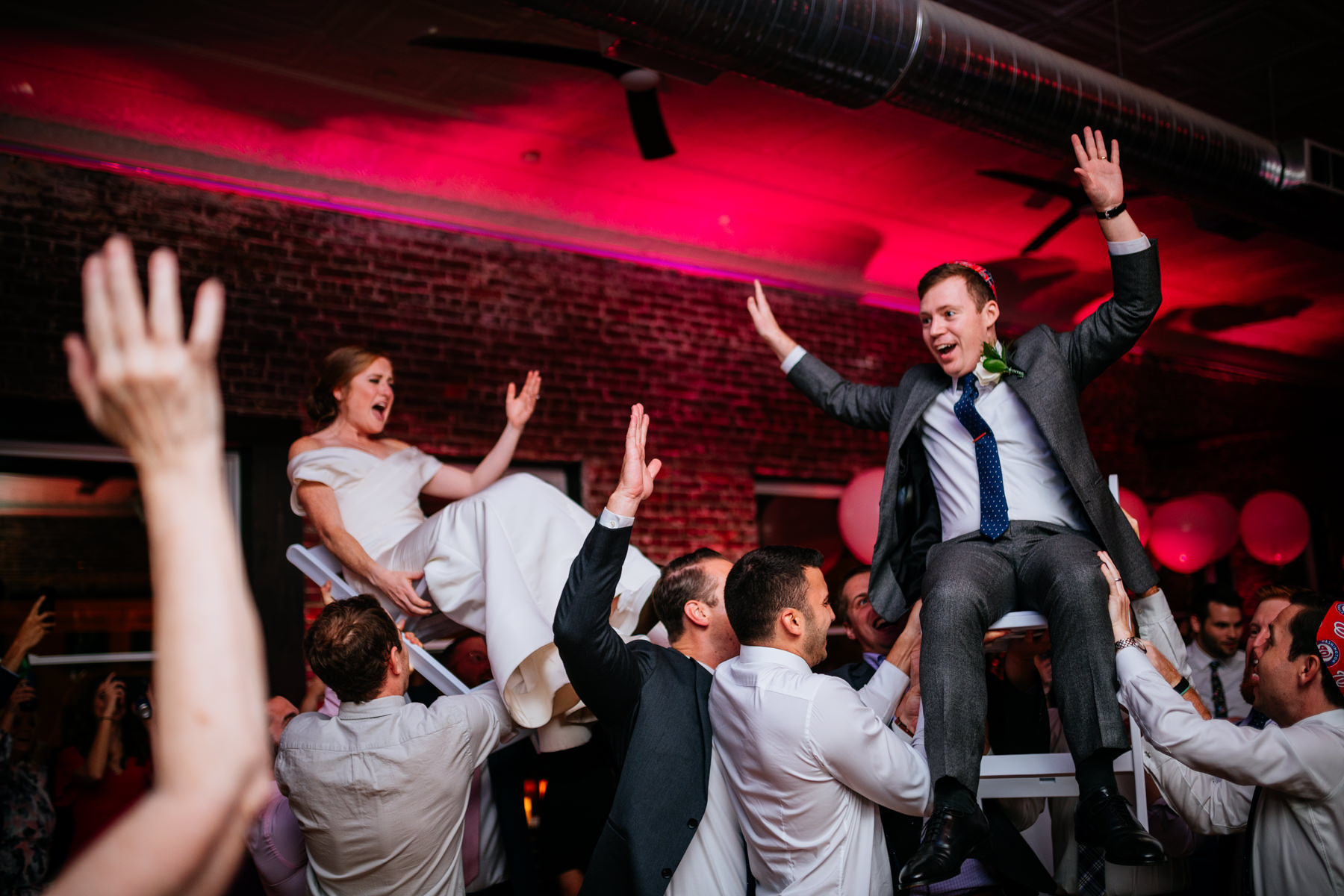 hora during hale street center wedding