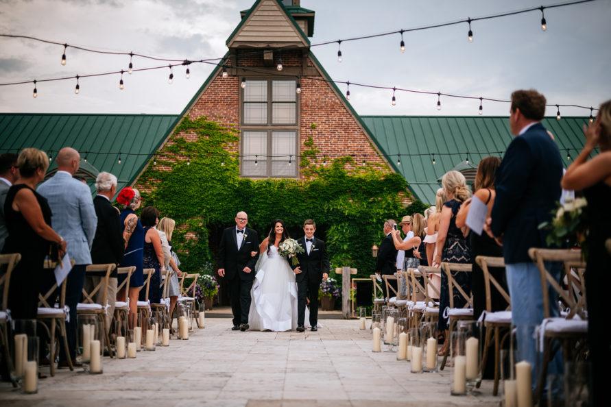 high acre farm wedding processional