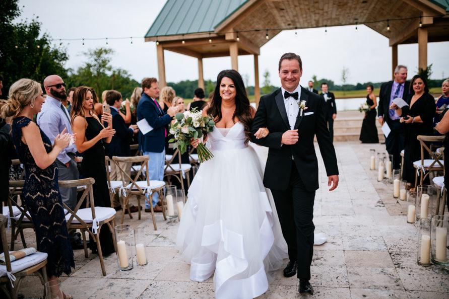 bride groom exit wedding ceremony