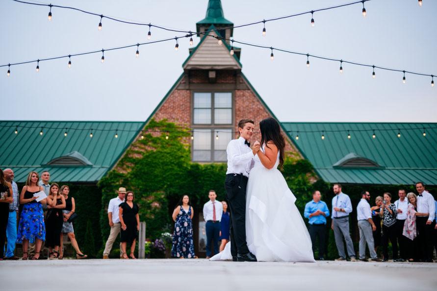 high acre farm wedding reception