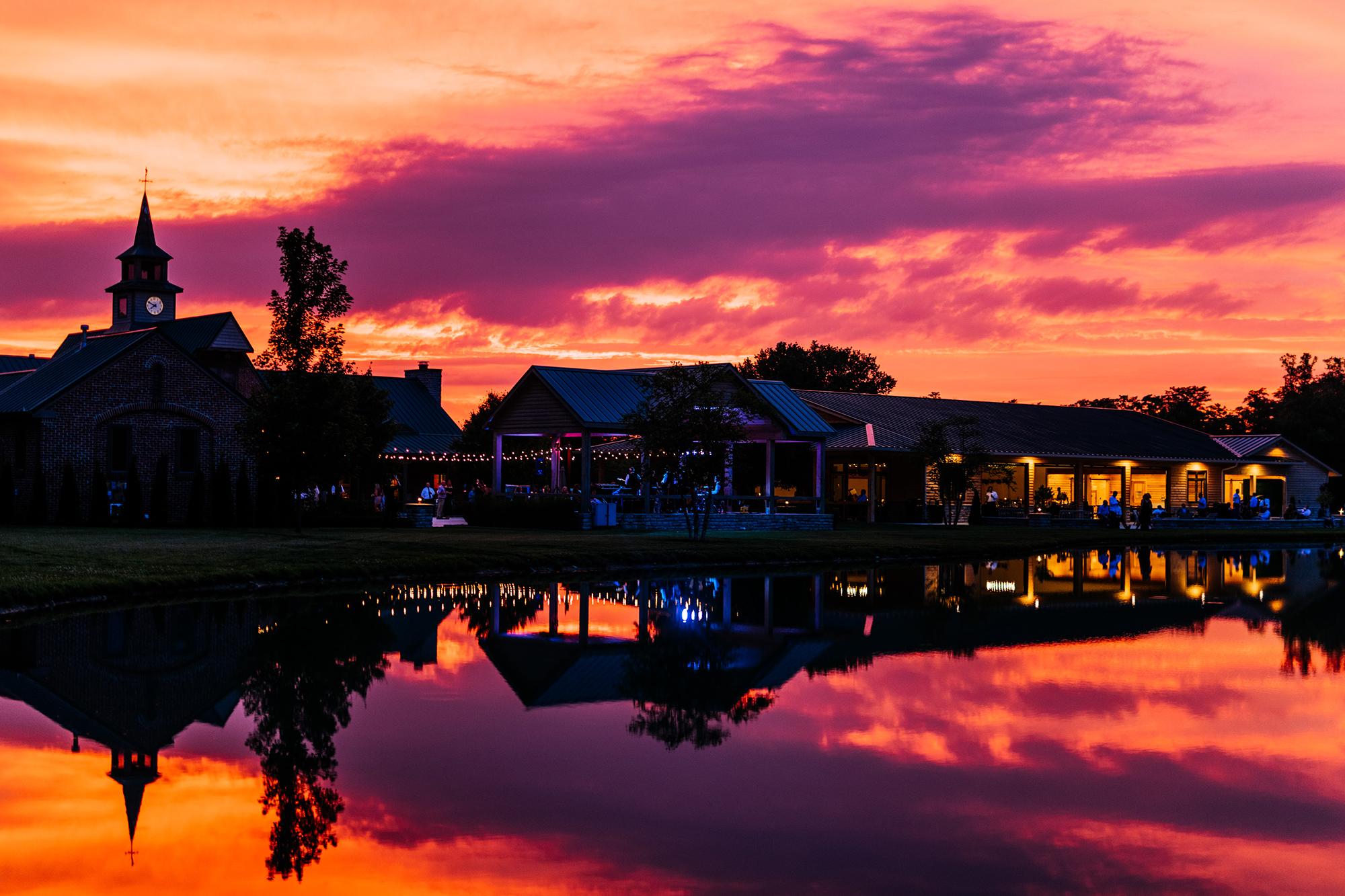 sunset at high acre farm piqua ohio