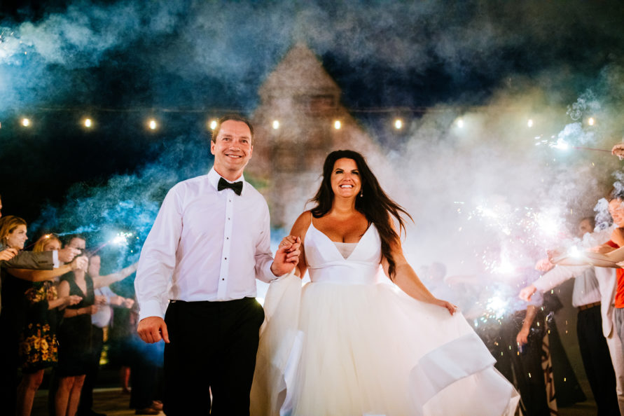 sparkler exit high acre farm piqua oh wedding