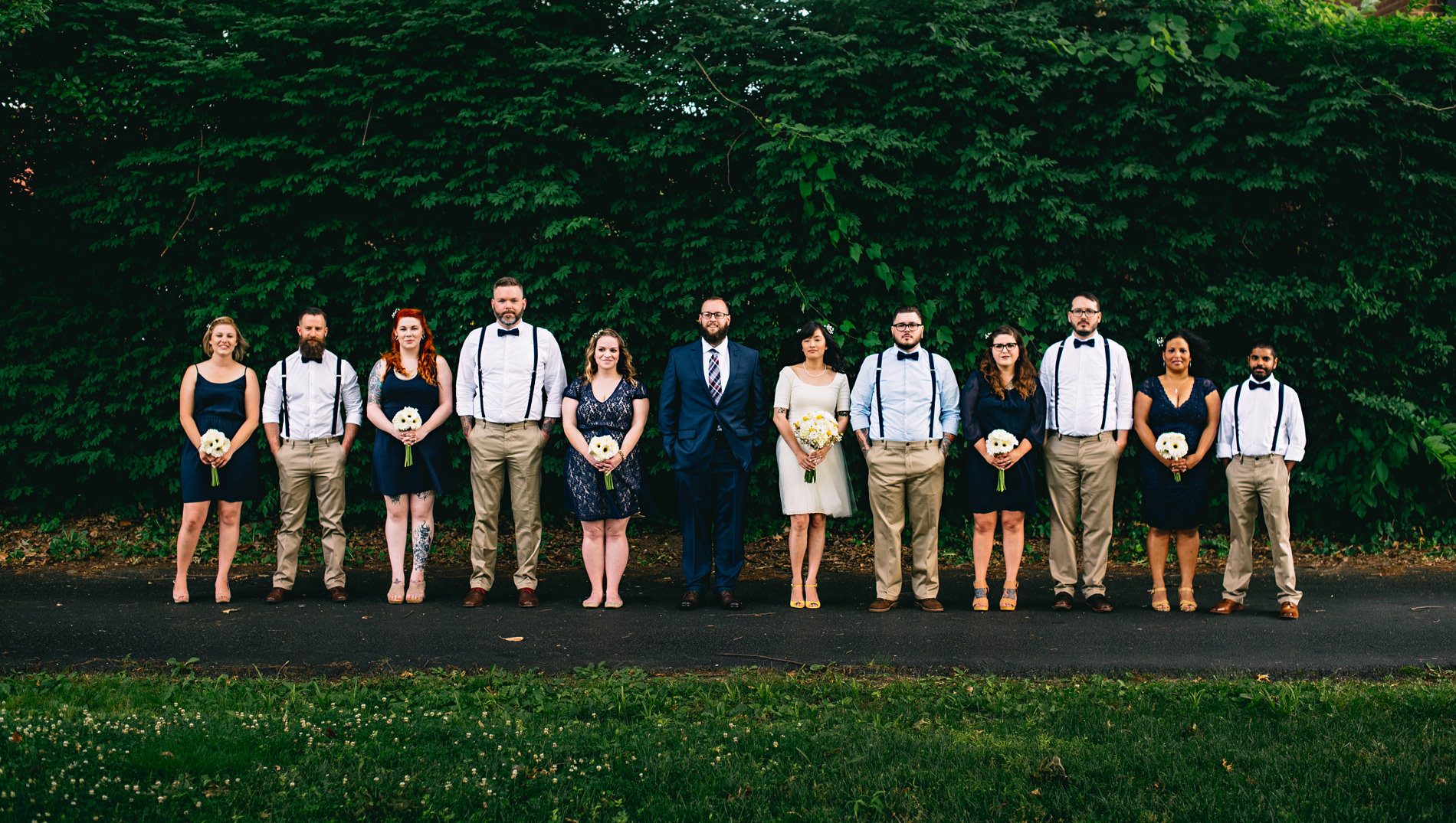 hip wedding party charleston wv wedding