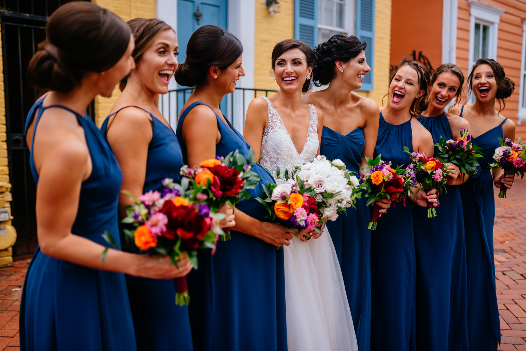 bridal party in georgetown