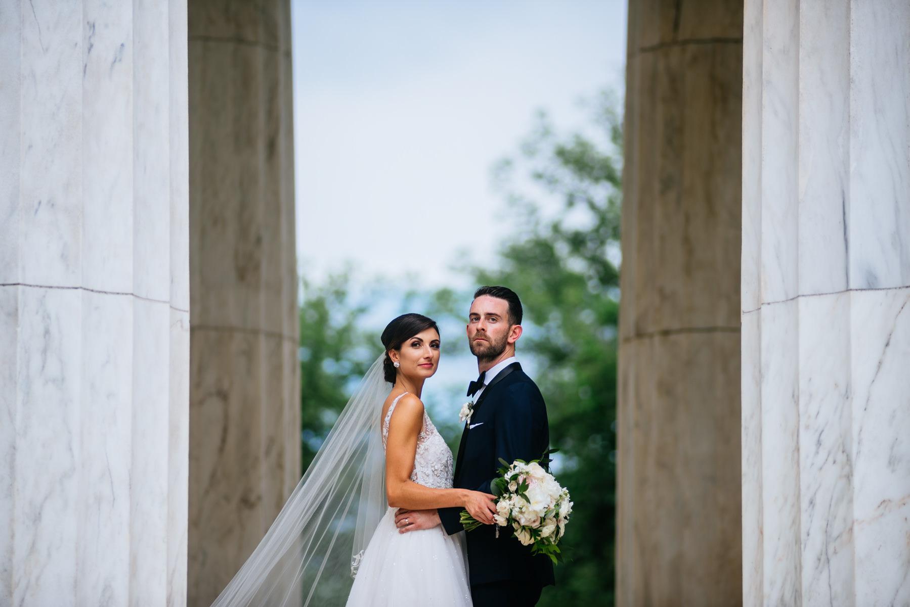 wedding portraits dc war memorial