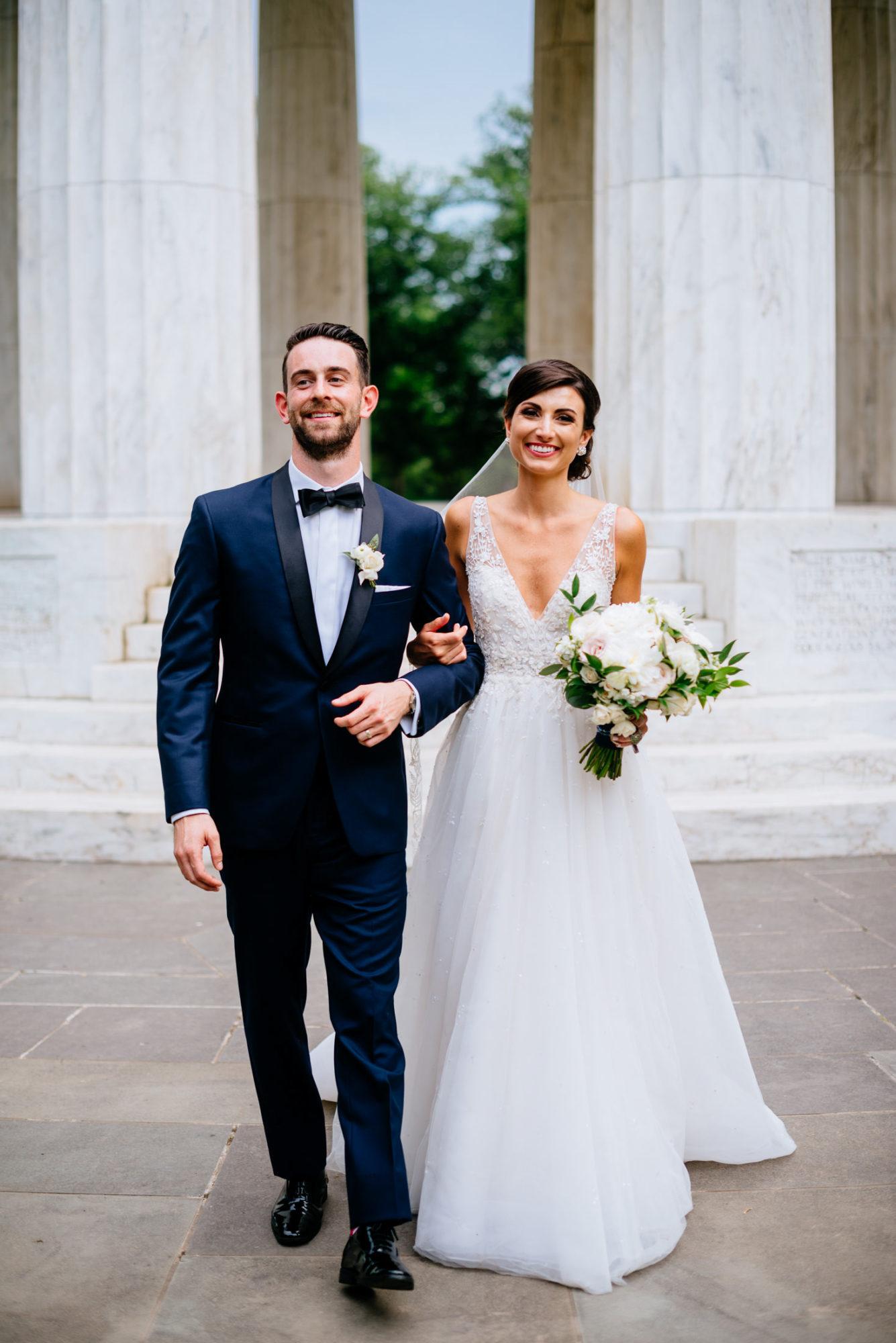 war memorial bride and groom