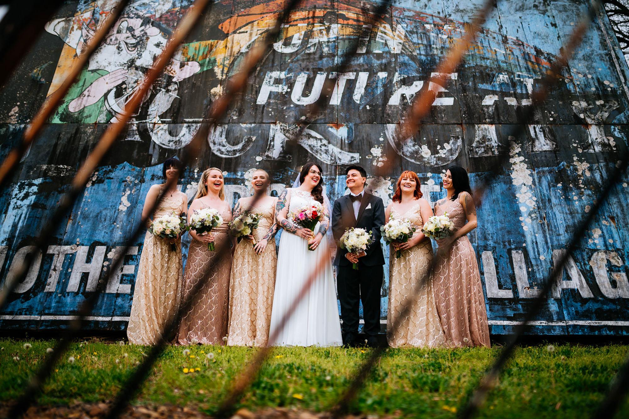 legacy farms wedding bridal party