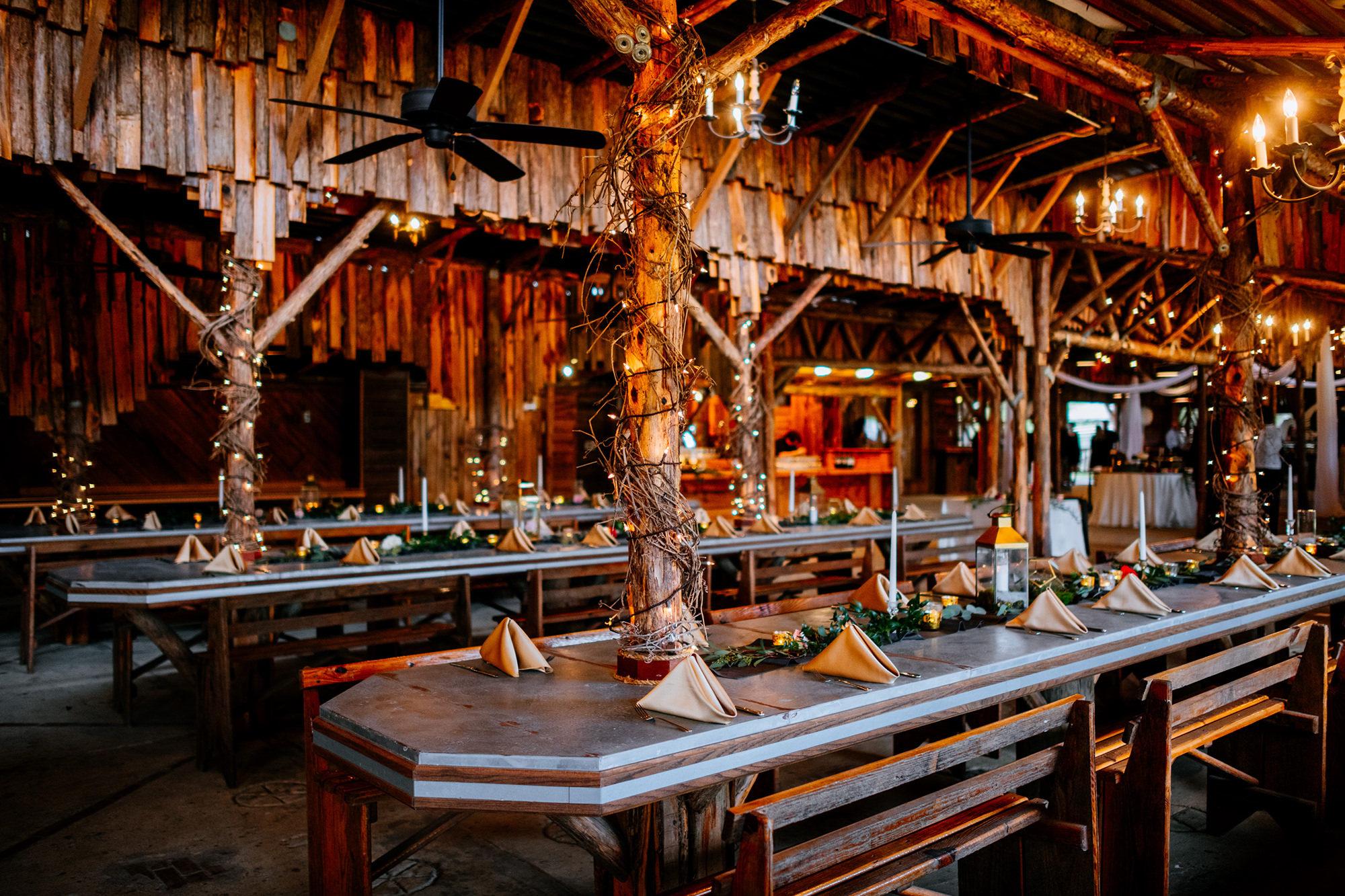 legacy farms wedding reception tables