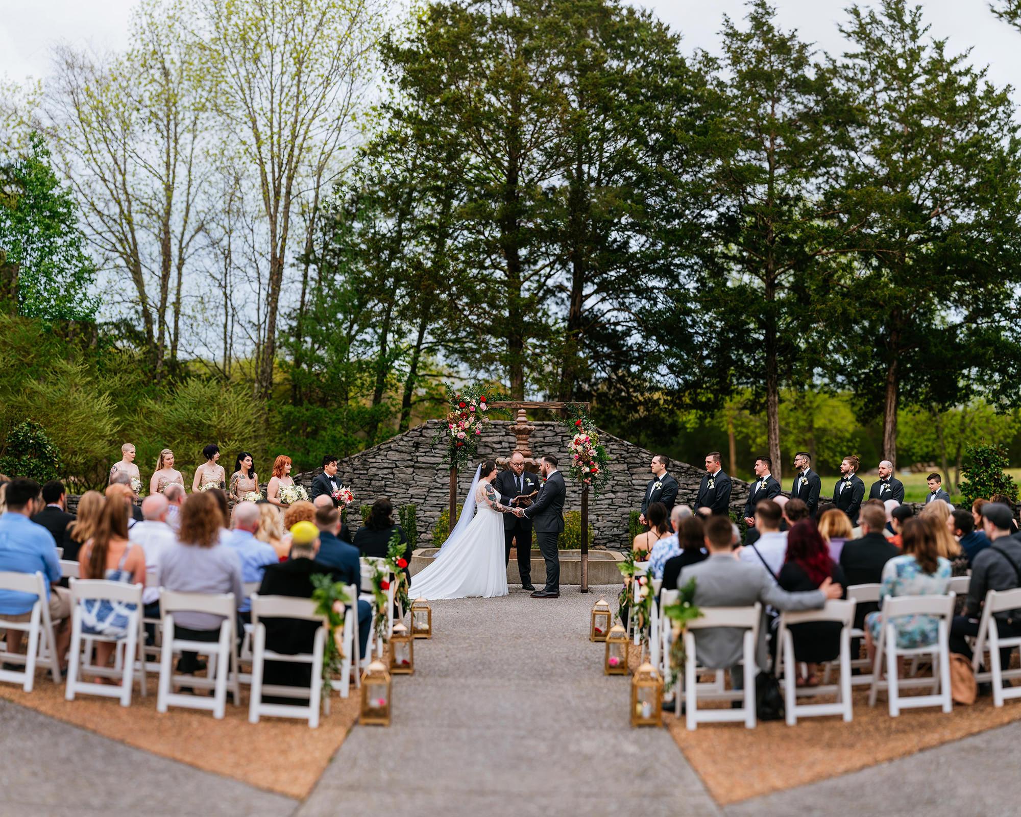 legacy farms wedding ceremony lebanon tennessee brenizer