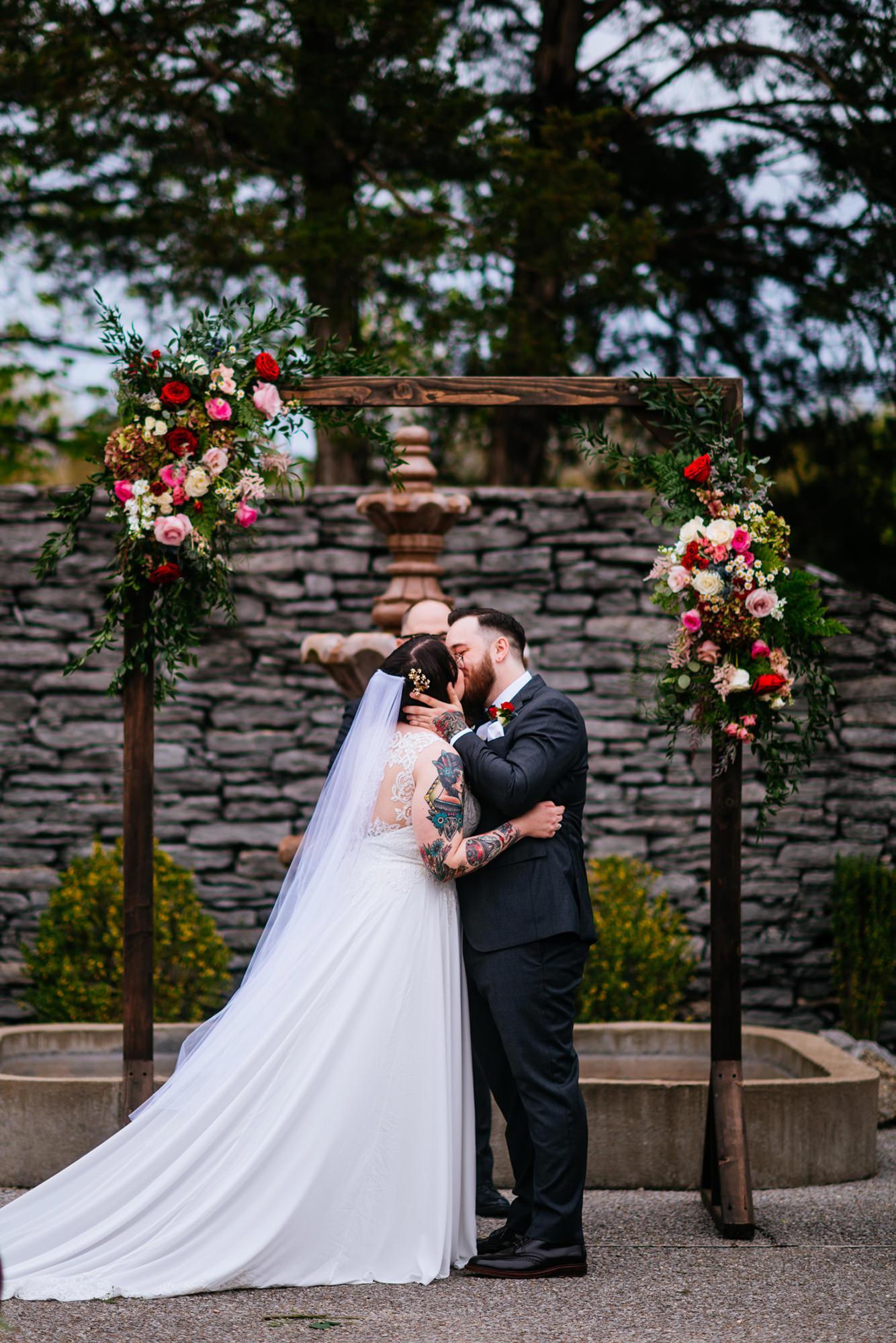 first kiss legacy farms wedding