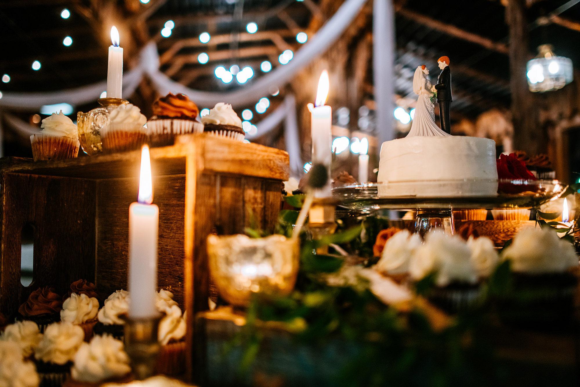 wild muffin wedding cake