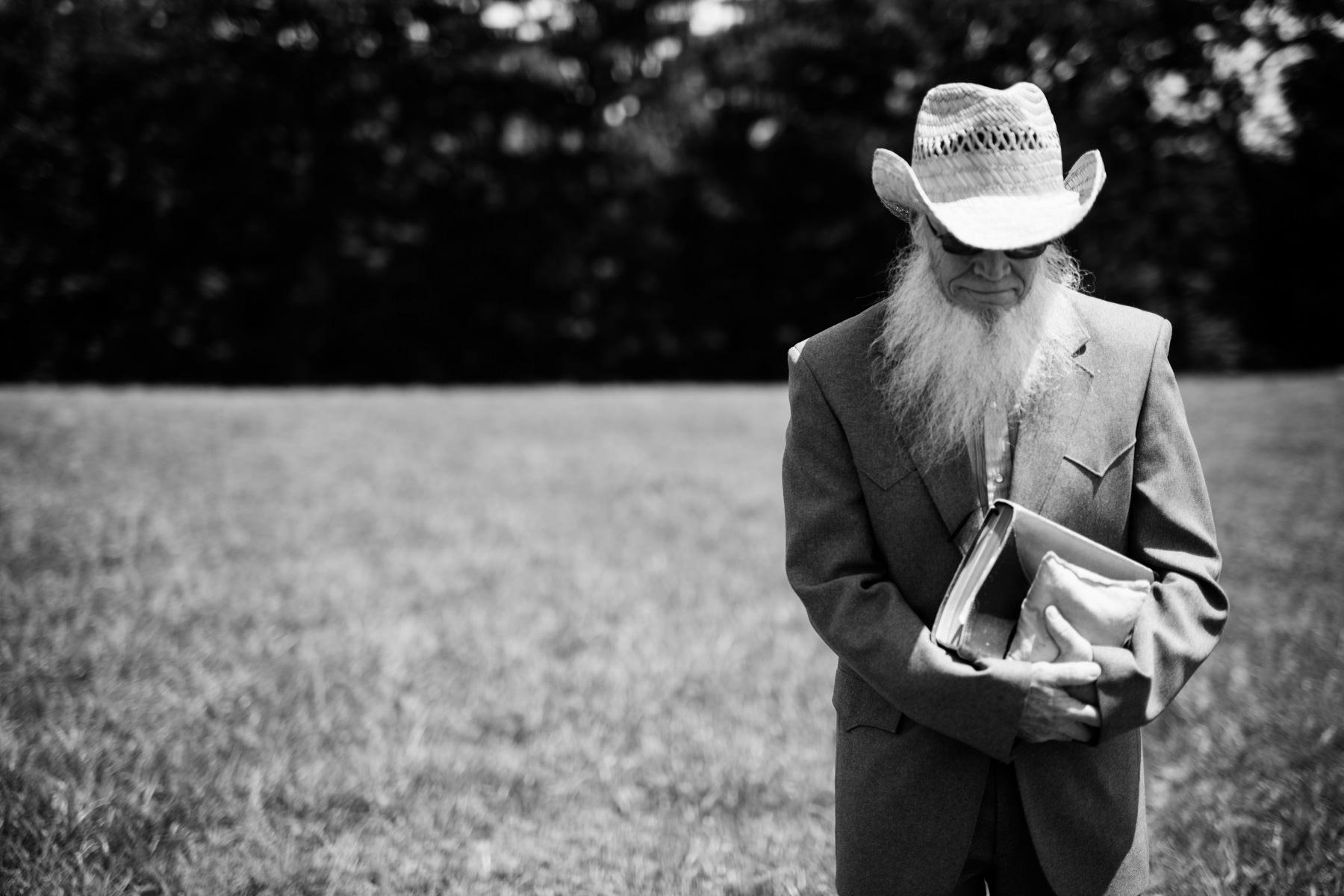 bearded wedding officiant