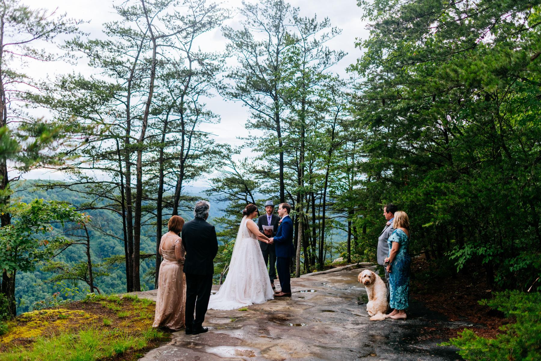 beauty mountain wedding fayetteville wv
