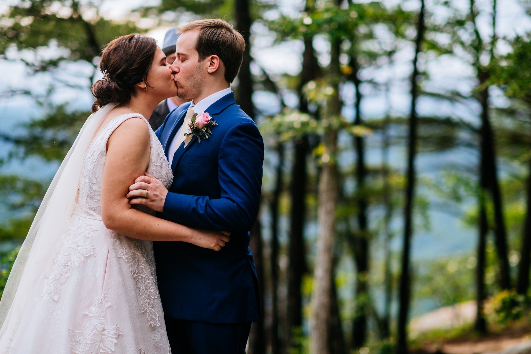 first kiss new river gorge wedding