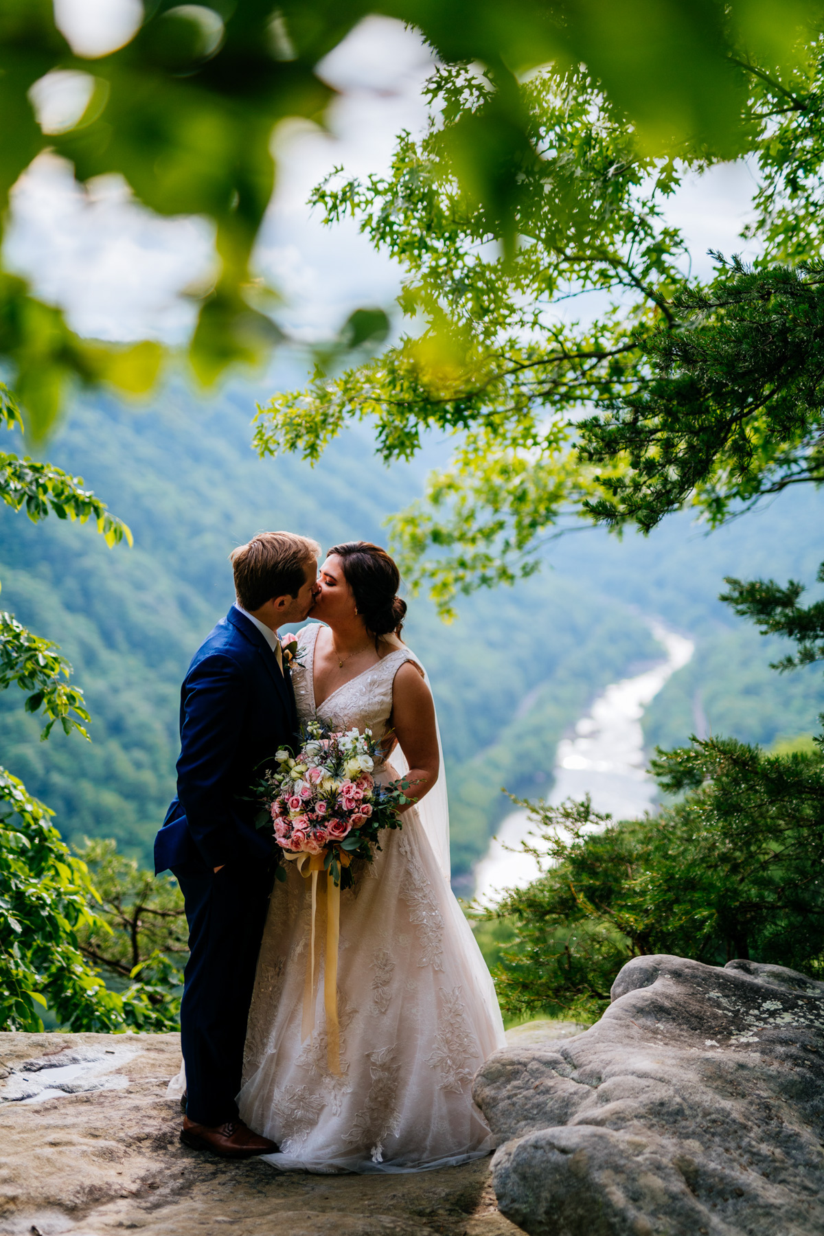 new river gorge wedding portrait