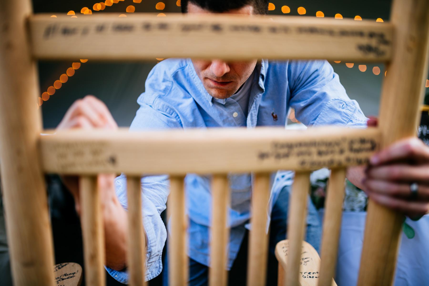 rocking chair guestbook wedding idea