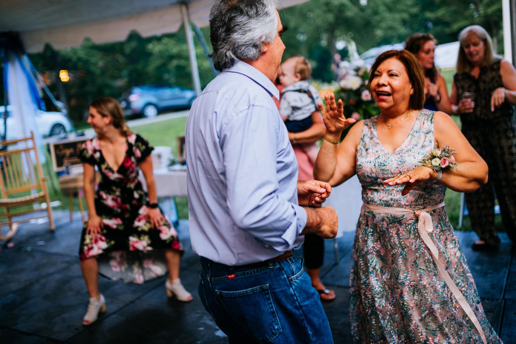 guests dancing wedding