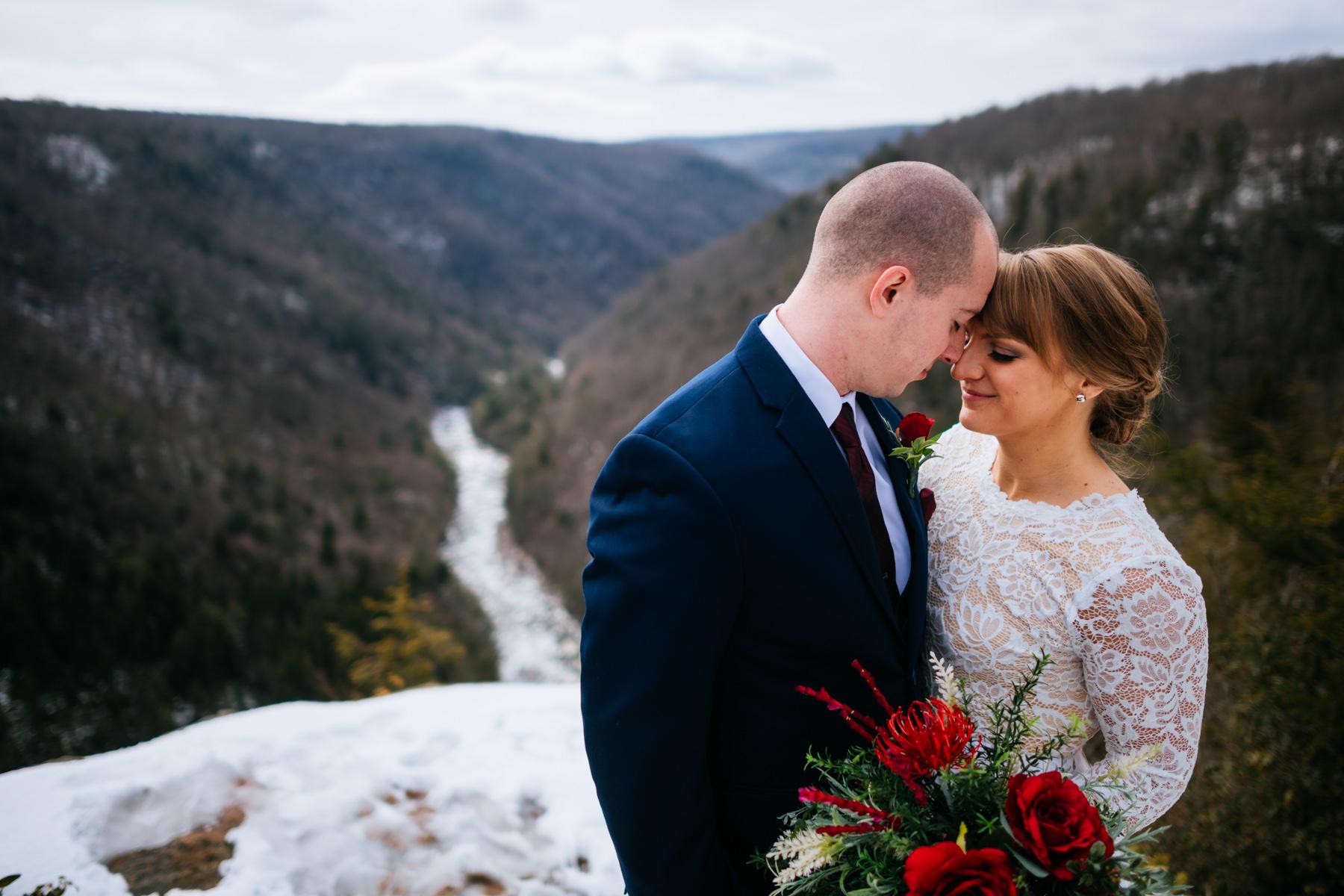 bride groom portrait pendleton point wv