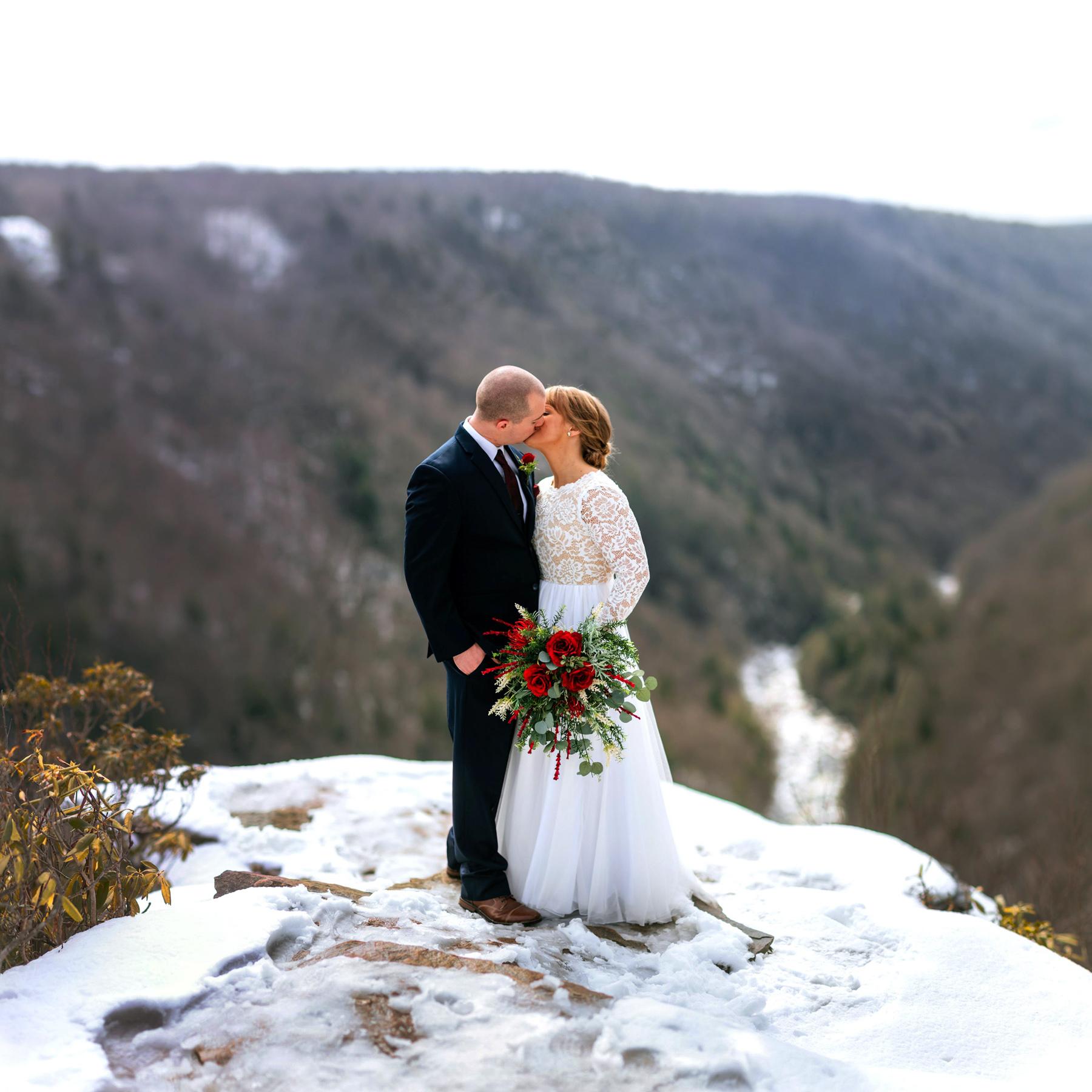 panorama pendle point wedding portrait