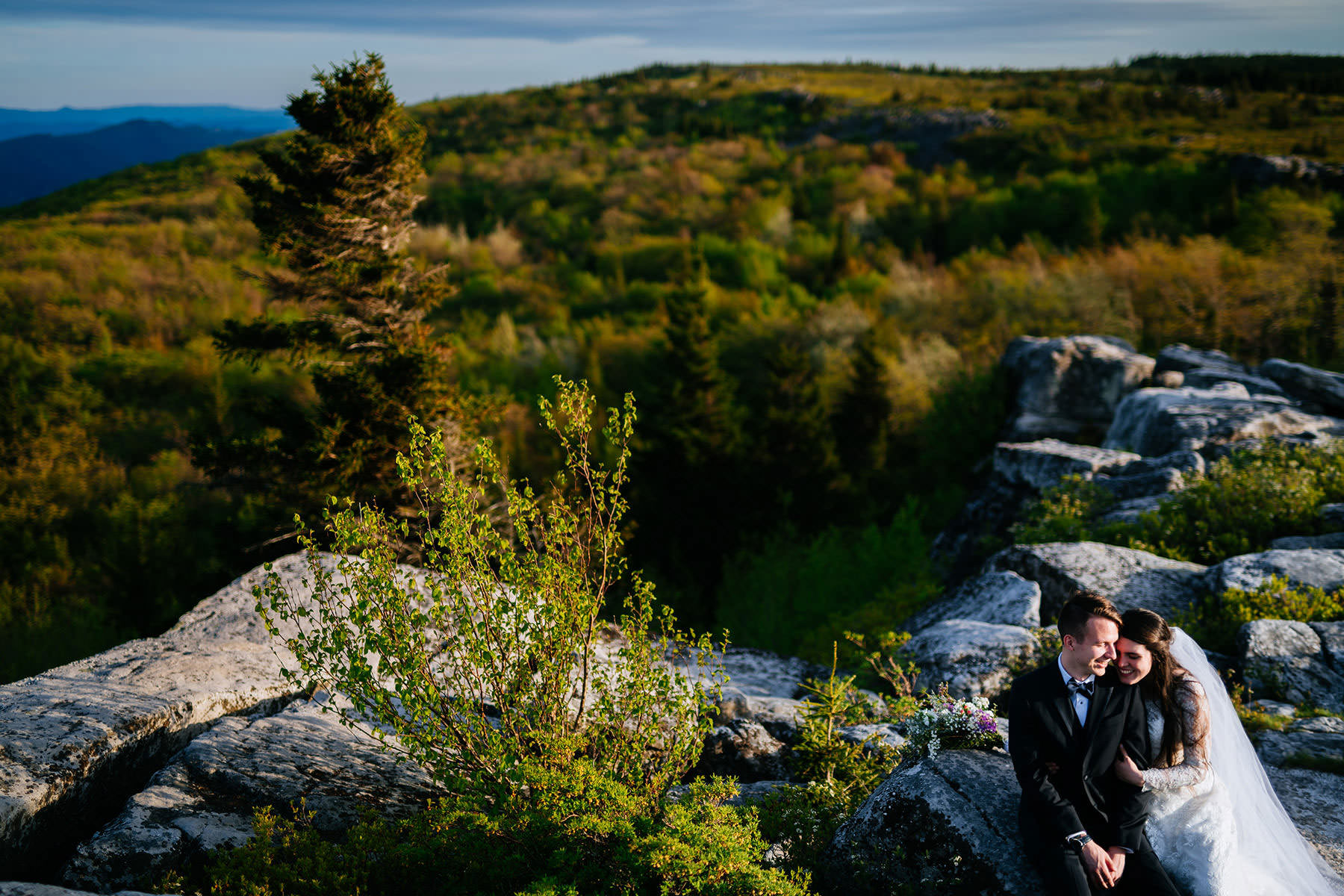 couple eloping at dolly sods wv