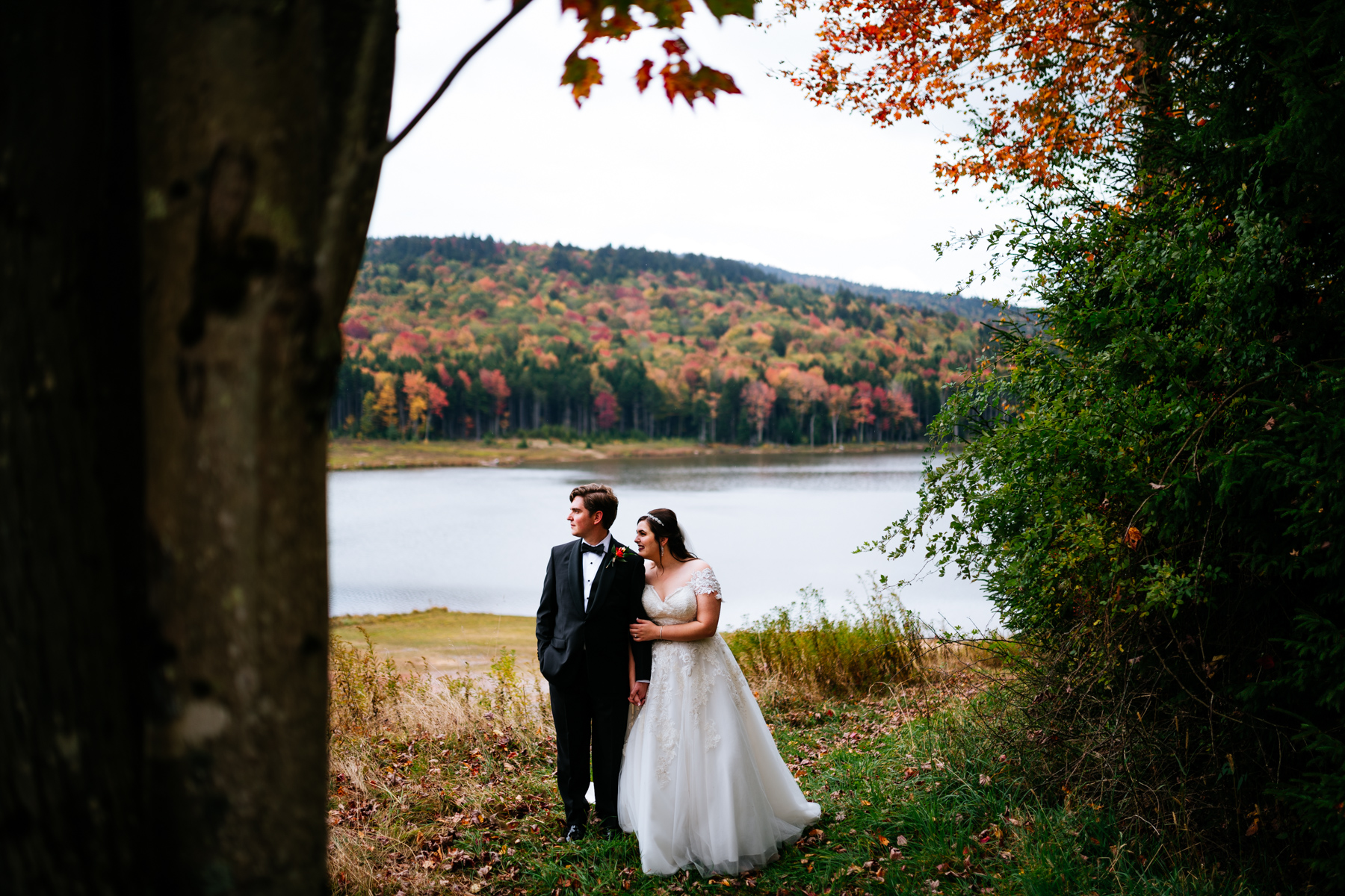 bride and groom snowshoe mountain resort wedding