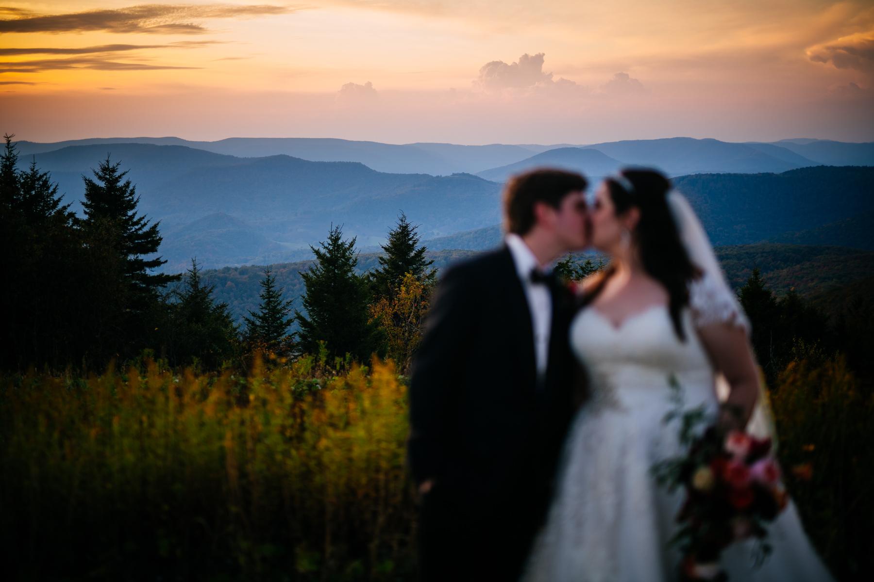 snowshoe mountain resort wedding couple portrait