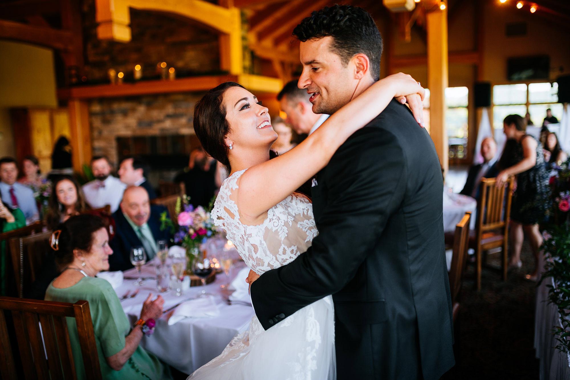 first dance stonewall resort wedding reception