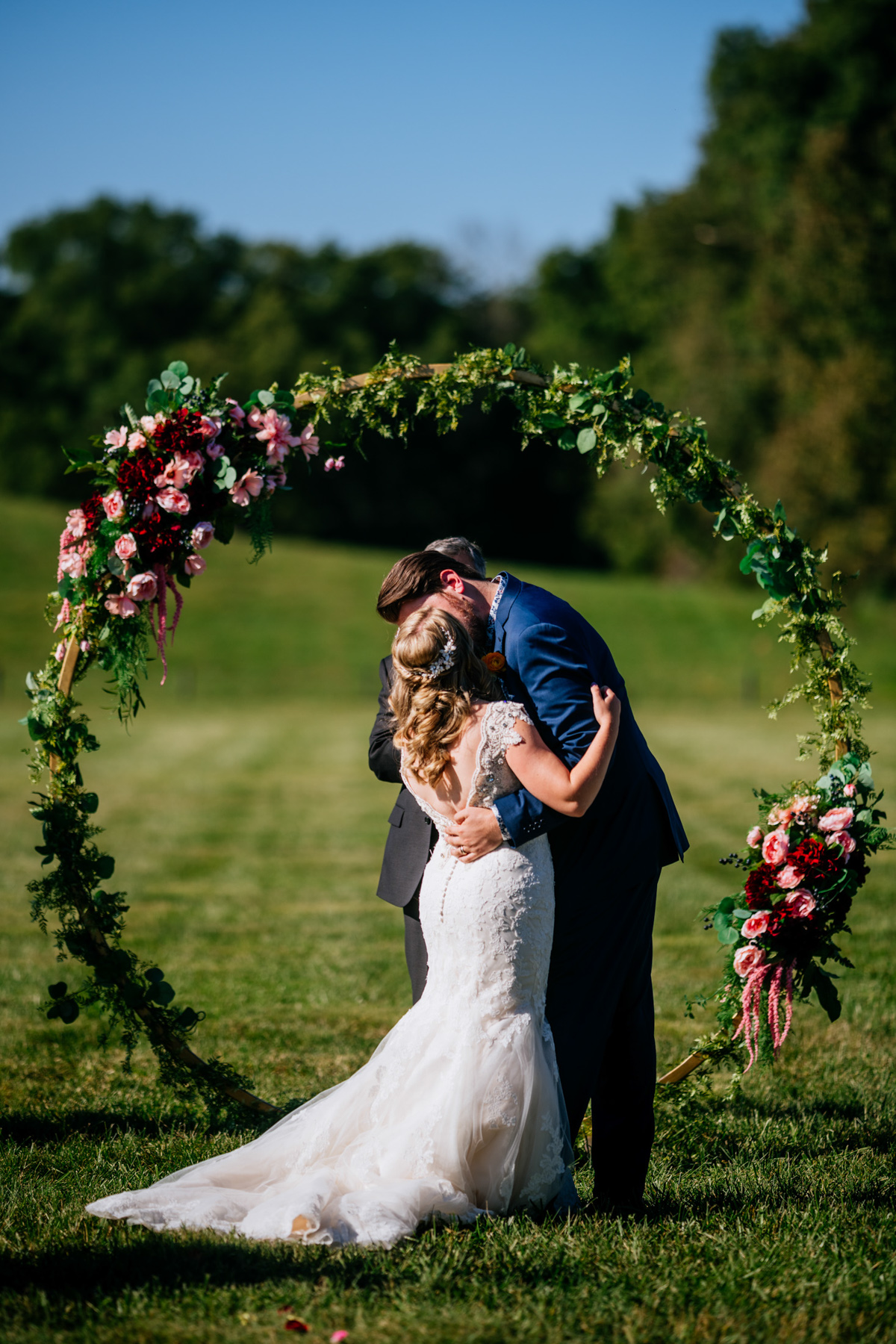 first kiss vignon manor farm wedding
