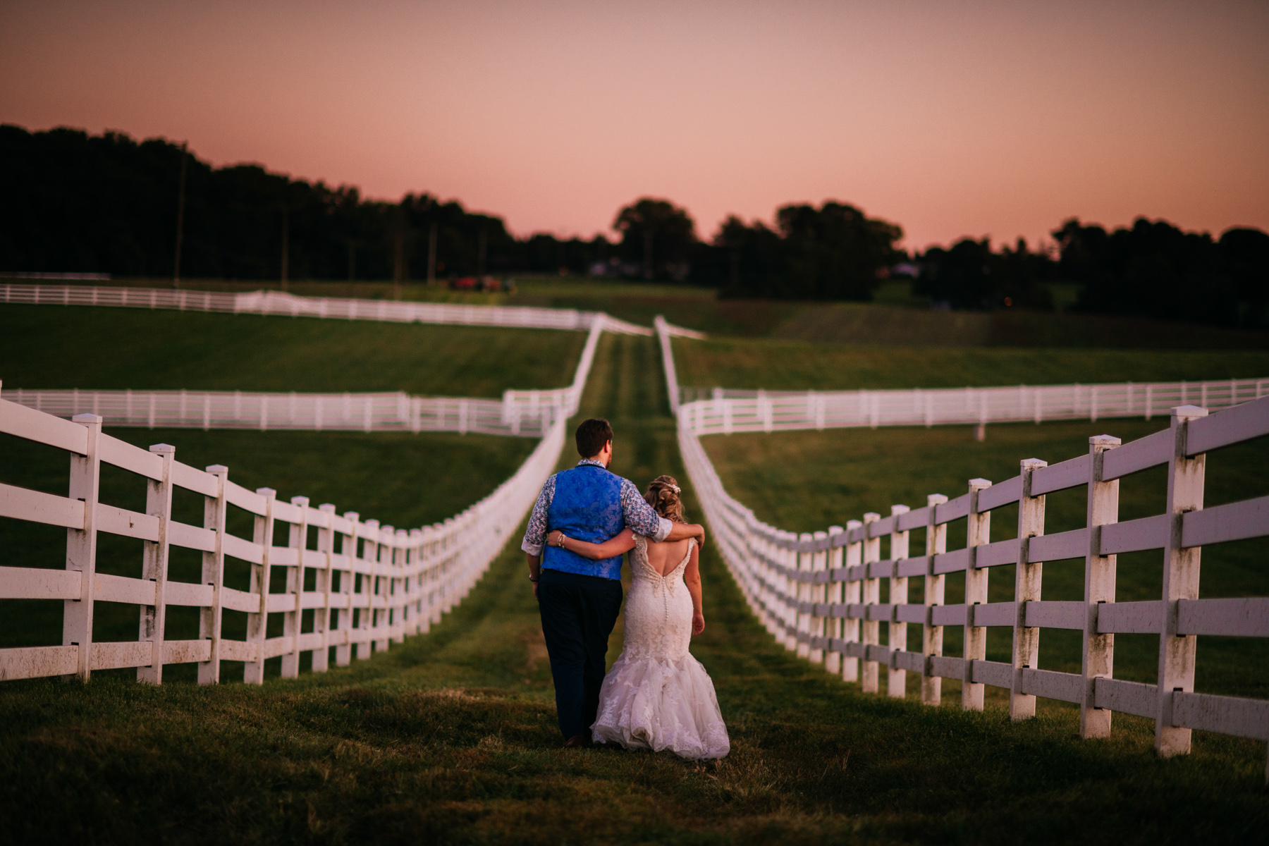 bride groom walking away vignon manor farm wedding