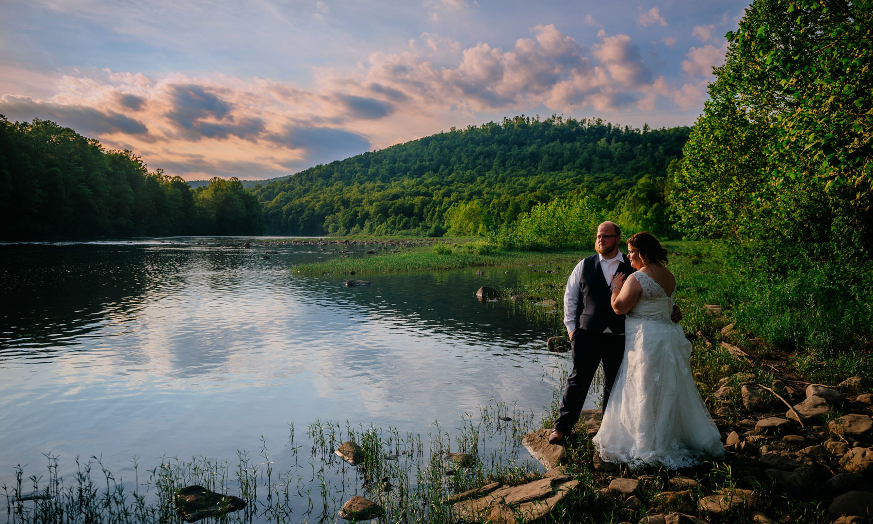 west virginia wedding on the cheat river