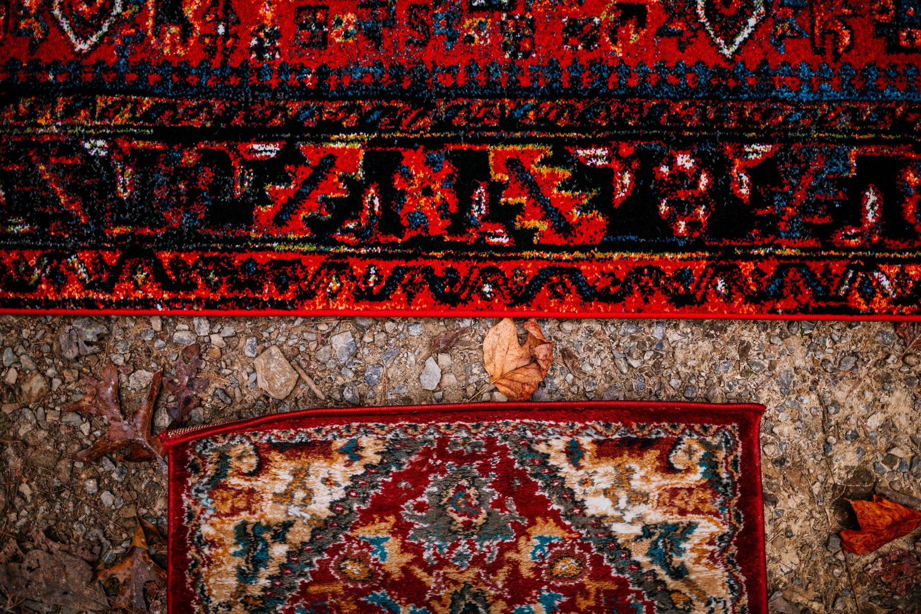 rugs on ground