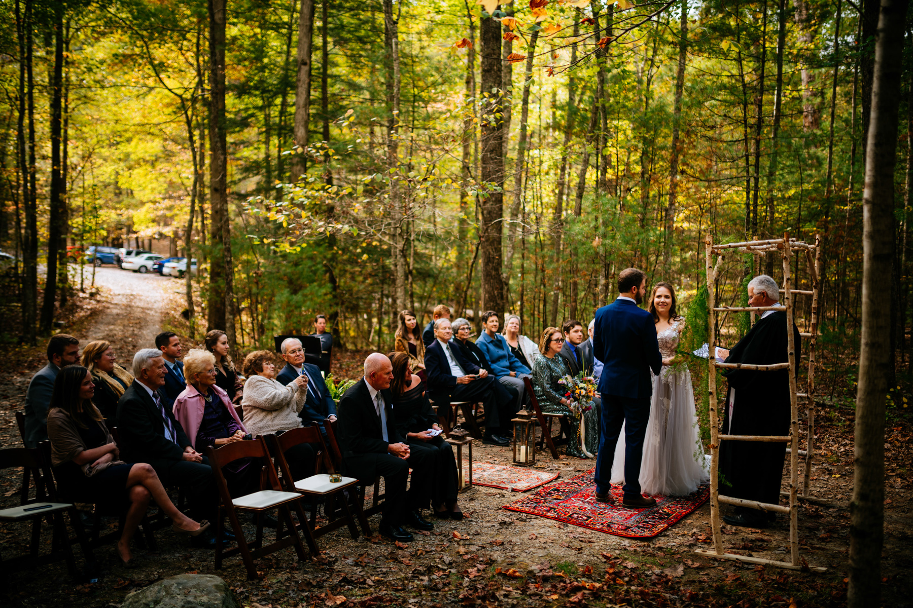 wv micro wedding ceremony at greenbrier state forest